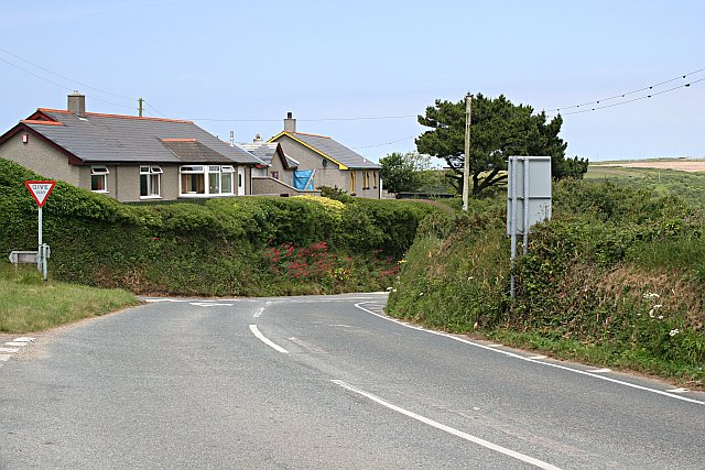 Houses on the hill above Portreath