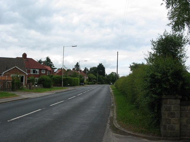 The A169 road to Whitby as it leaves Pickering
