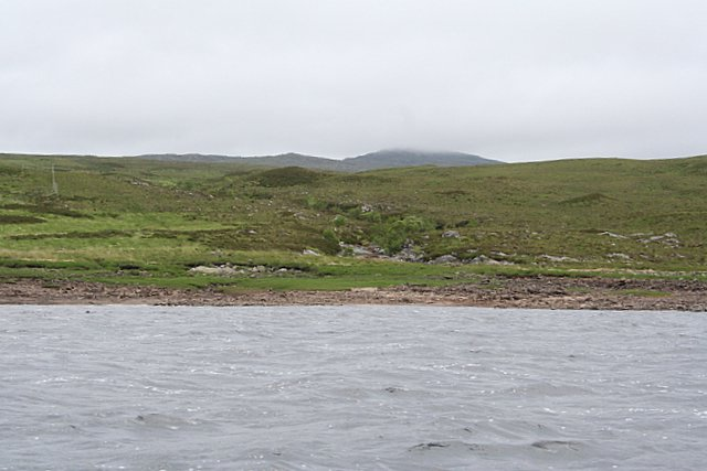 At the mouth of Allt Car Baag on the western shore of Loch Shin.