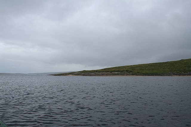 Looking northwards towards Cnoc Bhinn on the eastern shores  of Loch Shin.