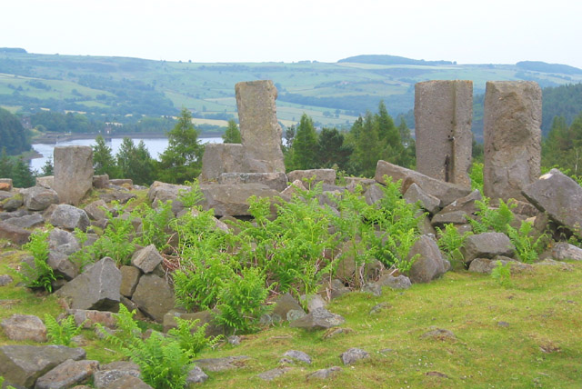 Ruins of North America Farm by Langsett reservoir