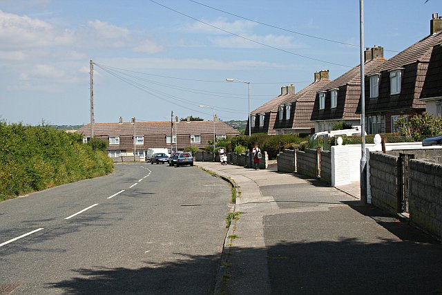 Post-war housing in Illogan Churchtown