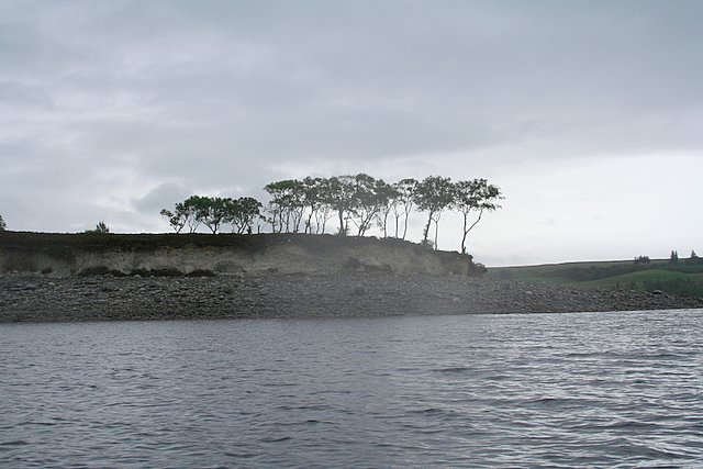 The southeast tip of the Airde peninsula on Loch Shin.