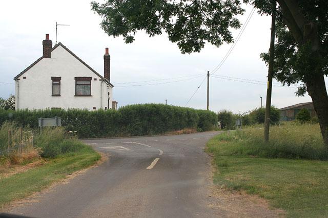 Road junction between Burtey Fen and Gosberton Fen