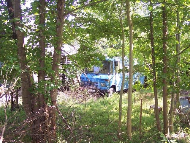 Abandoned Mercedes Van