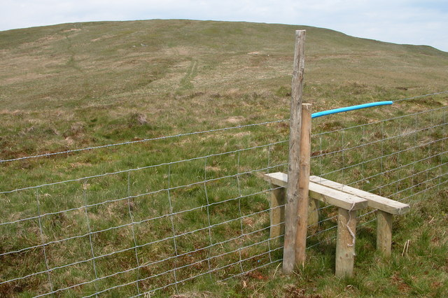 Stile below White Howe