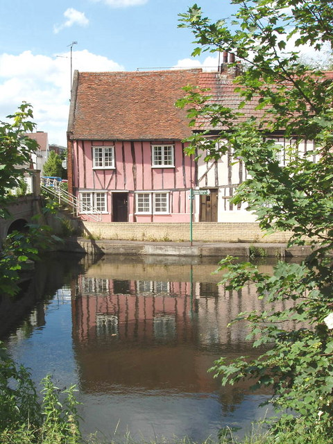 Cottages by the River Colne, Colchester