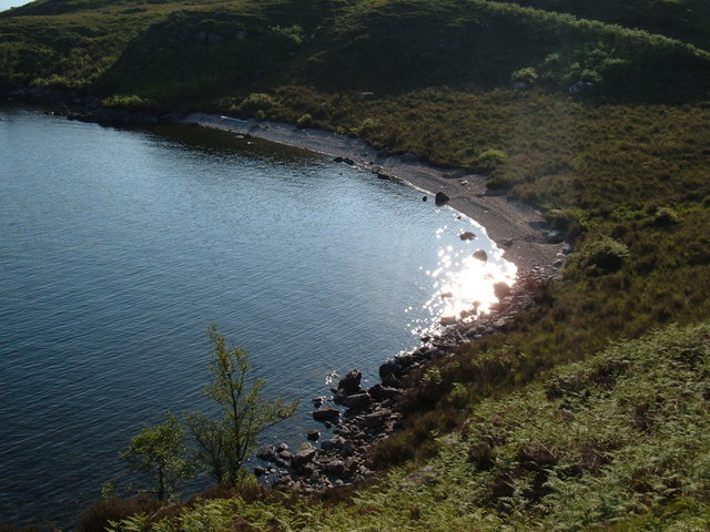 Un-named but beautiful little bay on Loch Morar