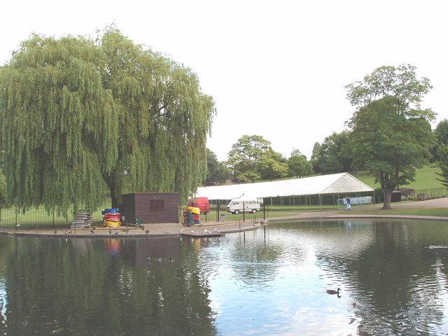 Boating lake, Castle Park, Colchester