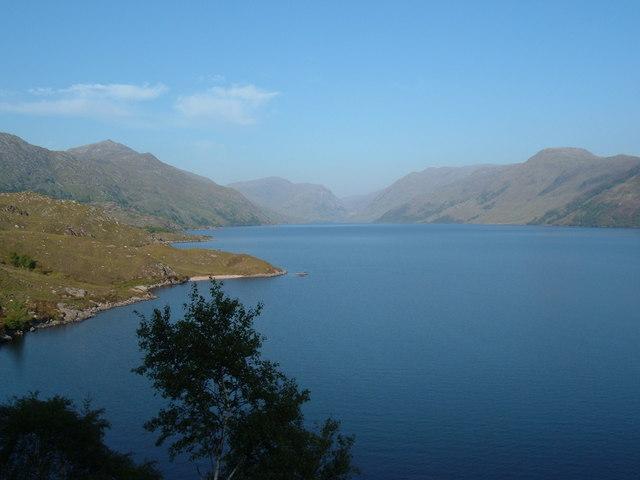 Loch Morar - View eastward from Sron Ghaothar