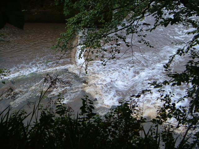Weir on River Otter
