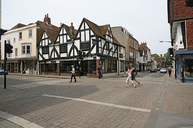 Junction of New Street, Crane Street & High Street, Salisbury