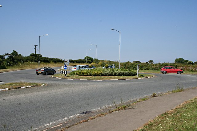 Roundabout above the A30