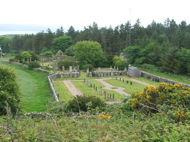 St Cathans Church and Graveyard, Gigha.