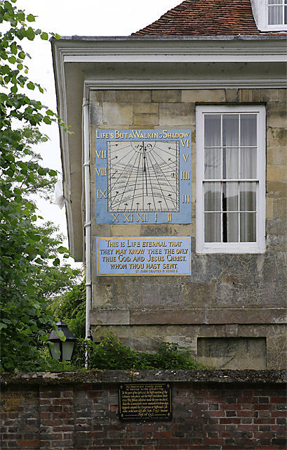 Sundial on Malmesbury House, The Close, Salisbury