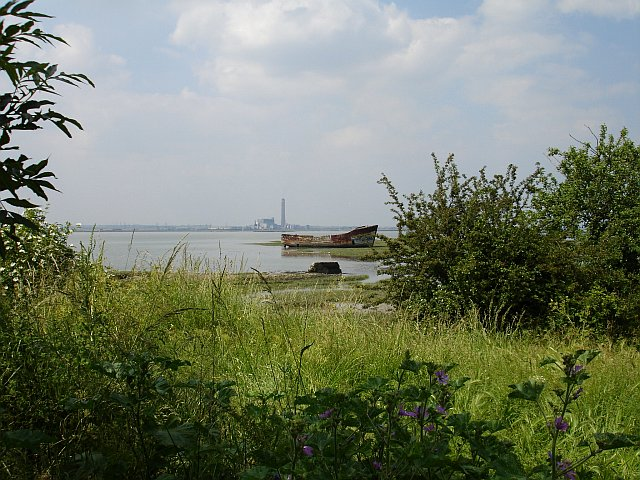 Derelict barge, Rainham Creek
