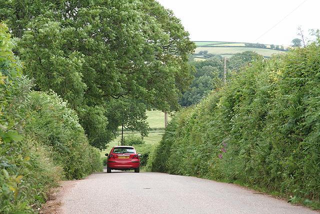 Tiverton: the old Bampton road