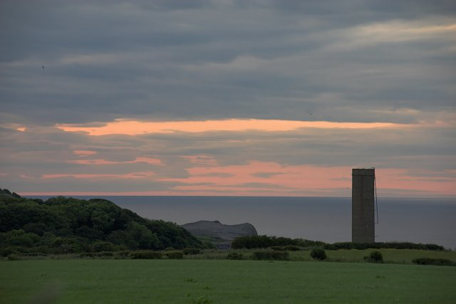 Disused water tower at Sandsend