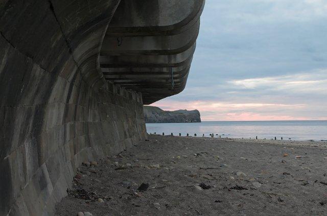 Cantilever walkway and Sea wall - Sandsend