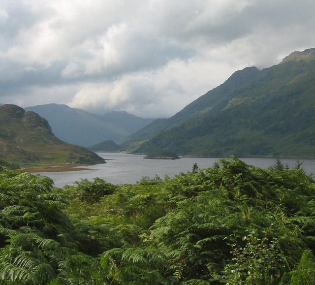 View west down Loch Hourn
