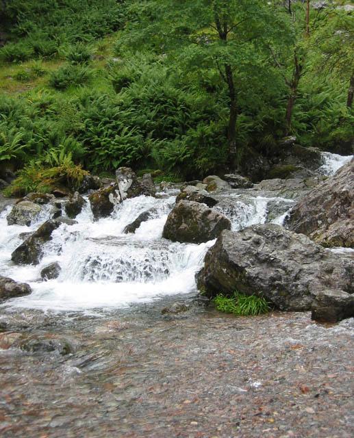 Allt Coire Gabhail waterfalls