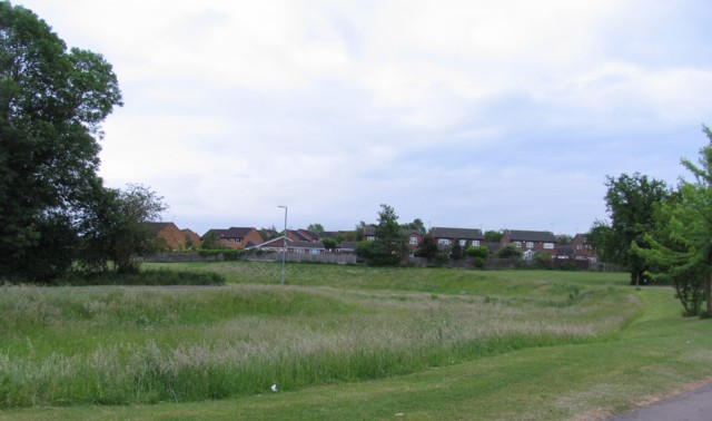 Open space and houses off Severn Road