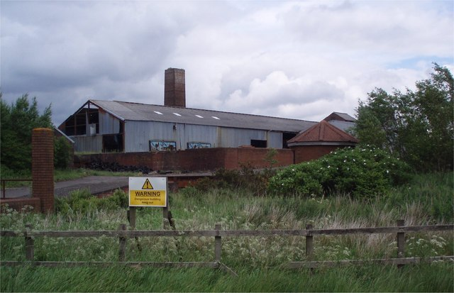 Old colliery buildings.