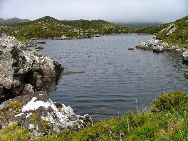 Outlet of an Un-named Loch, Beinn Uidhe