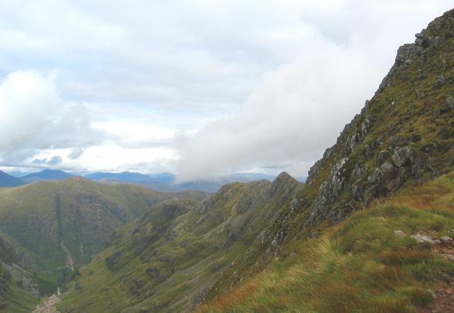 Beinn Fhada ridge from col