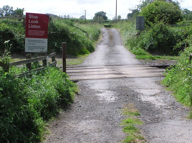 Level Crossing : Bog Hall  Lane