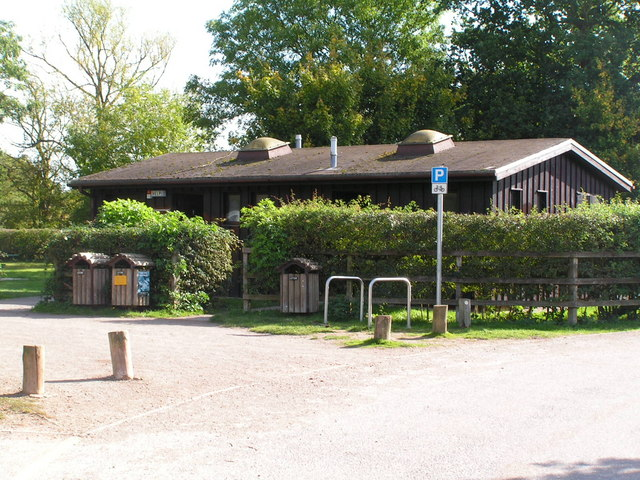 The toilet block,by the car park, Haysden Country Park