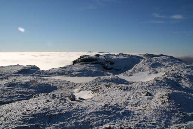 Frozen lochans, Beinn a Chroin