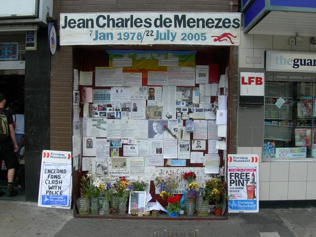 Memorial to Jean Charles de Menezes