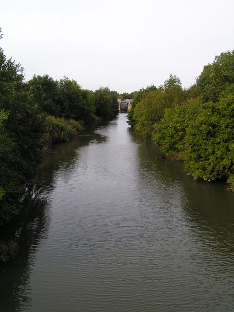 River Medway looking towards the Leigh Flood Barrier