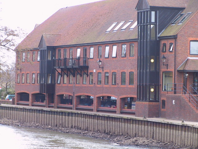 Offices on the banks of the River Medway, Tonbridge.