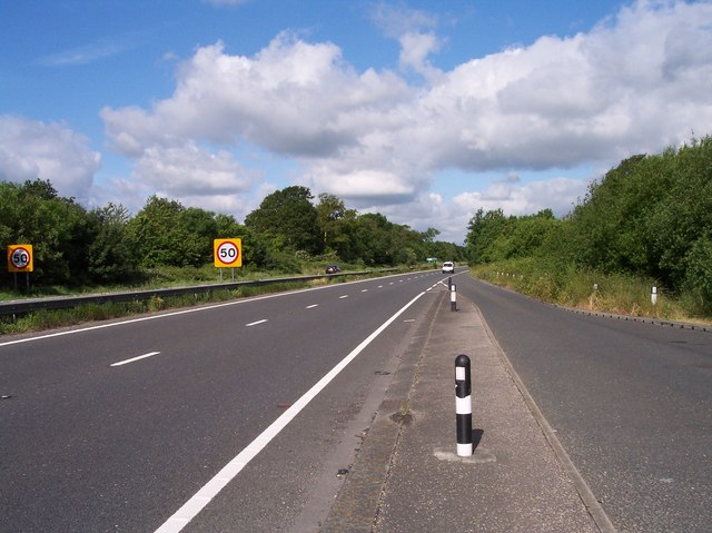 End of the A27 Dual Carriageway, Crossbush