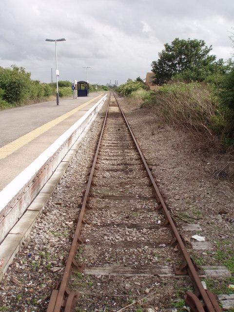 Severn Beach railway platform