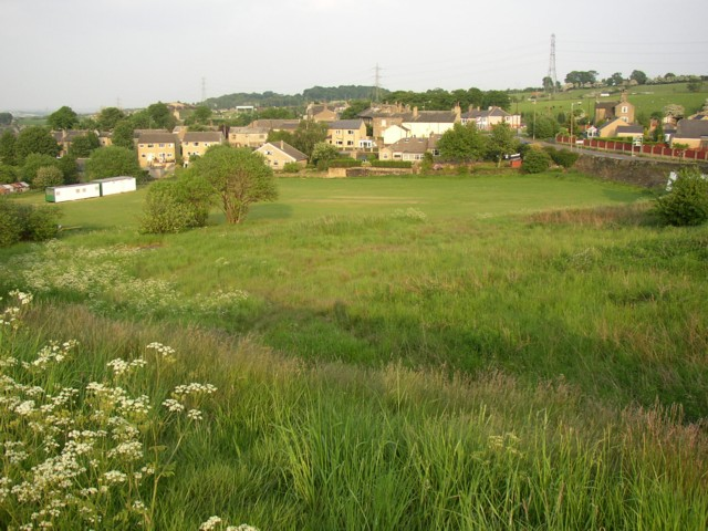 Badger Hill Cricket Ground from Far Common, Rastrick