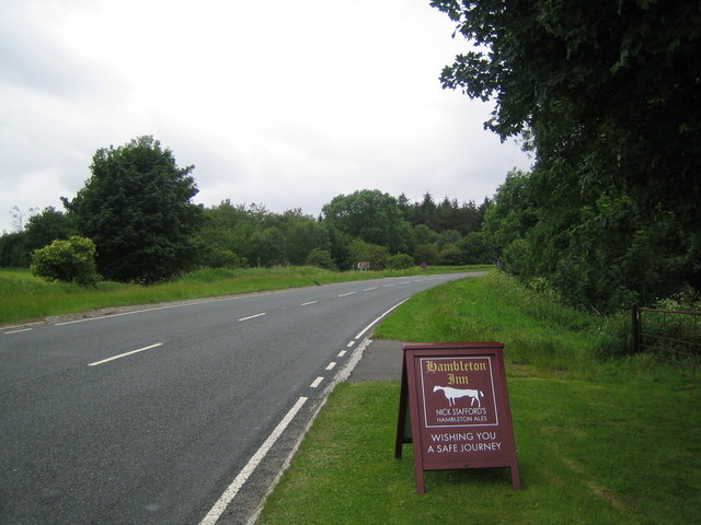 The A170 road 1 Km east of Sutton Bank