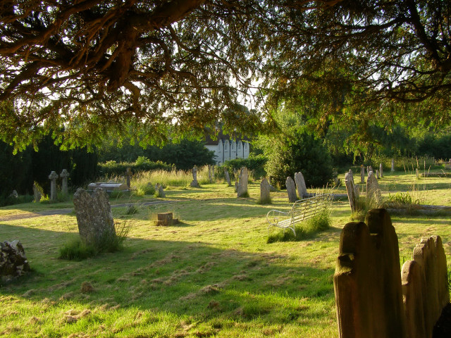 The churchyard at Twyford parish church