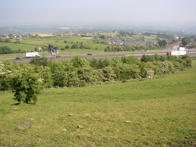 The M62 from Cote Lane, Fixby