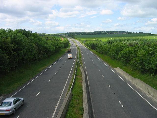 A69 near Whittle Farm