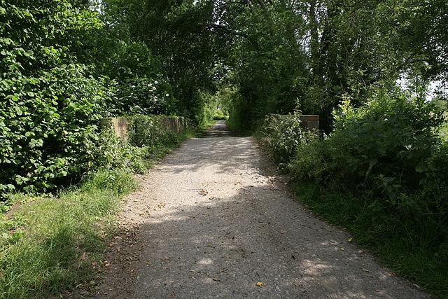 Bridge over River Bourne on private road to Little Durnford Estate