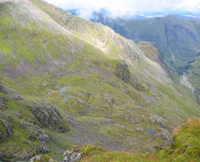 Lochan-studded valley