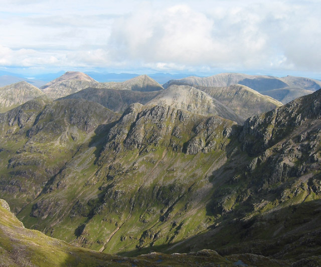 Panorama from Stob Coire nan Lochan, east view