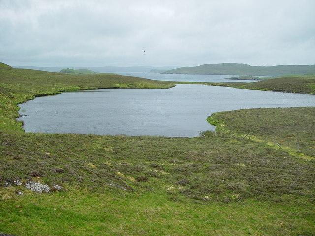 Loch on West Linga, Shetland
