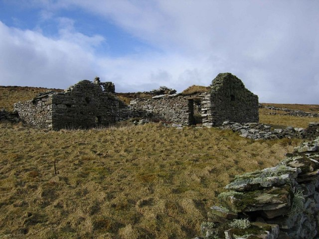 Abandoned croft high in the Wasbister region of Rousay