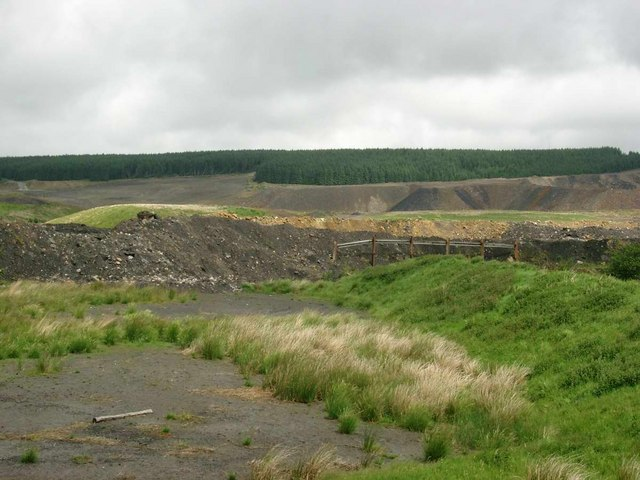 Opencast coal working of Spireslack, near Glespin