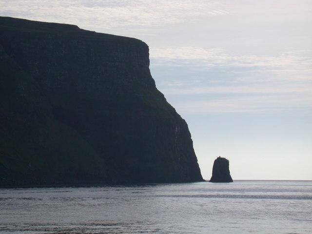 Iorcail sea stack on Canna