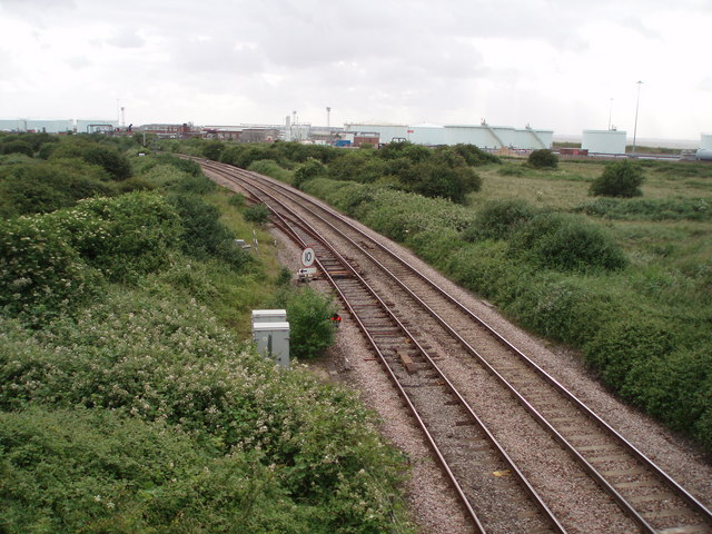 Railway line and fuel depots